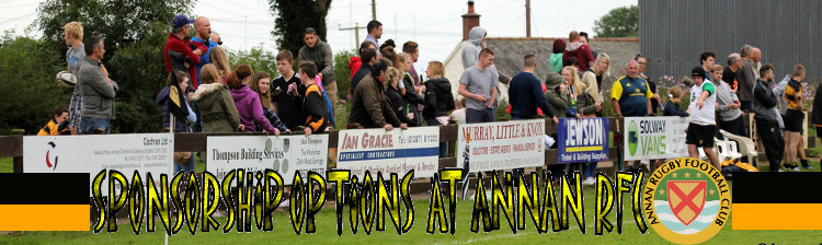 Sponsorship Options at Annan Rugby